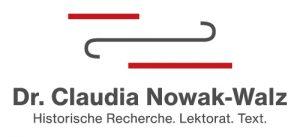 Logo von Dr. Claudia Nowak-Walz Historische Recherche. Lektorat. Text.